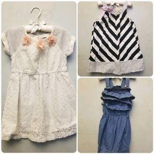 Toddler girl 4T 3pcs summer dress bundle (D3)